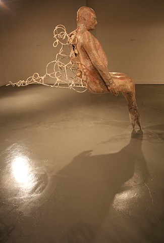 Figurative sculpture from my MFA Thesis Exhibition, Passing Through