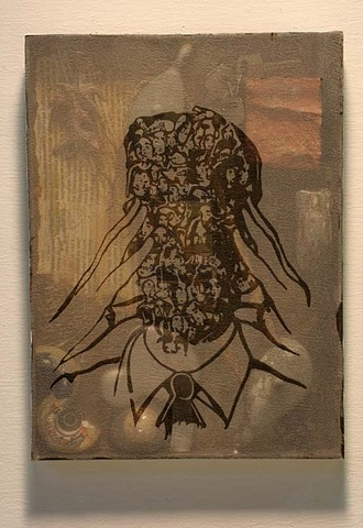 Screen-print and assemblage