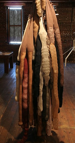 Nylons, Ernesto Neto inspired work, Tactile Sculpture