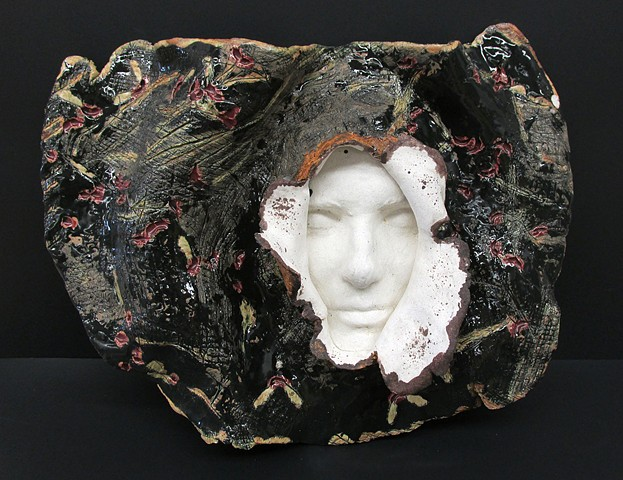 Student work, ceramics 1, face casting