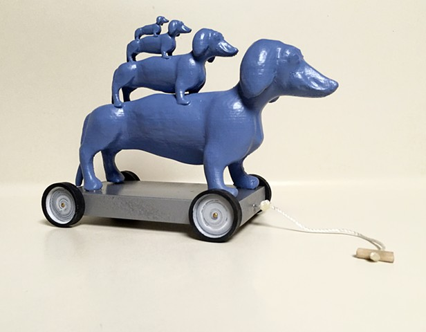 3-D printing, sculpture, ceramics, parenthood, toy trains, Dachsunds, laser-cutting