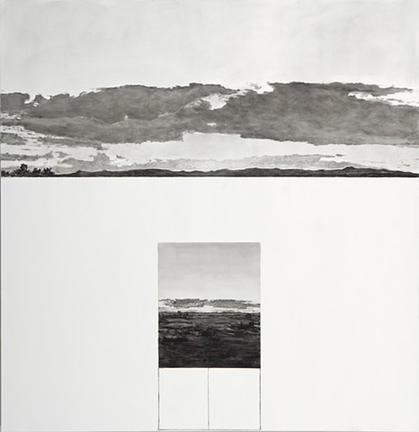 contemporary art, landscapes, skyscapes, contemporary painting, black and white paintings