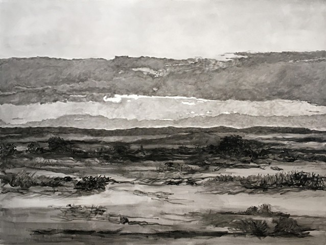 contemporary art, landscapes, skyscapes, contemporary painting, black and white paintings, sunsets