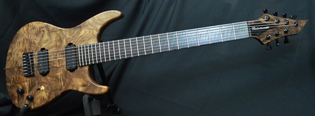 Claro Walnut and Plum Pudding Sapele 7-String