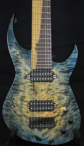 Extended Range Quilted Maple and Flamed Sapele 8-String