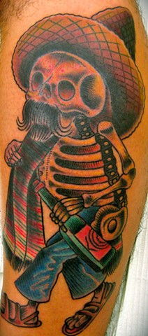 Traditional Day of the Dead Tattoo