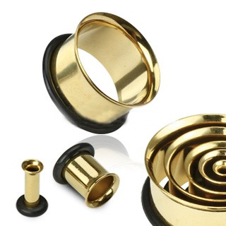 Gold Single Flare Tunnels