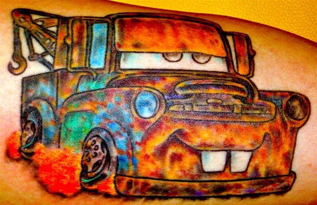 Mater from Cars Movie Tattoo