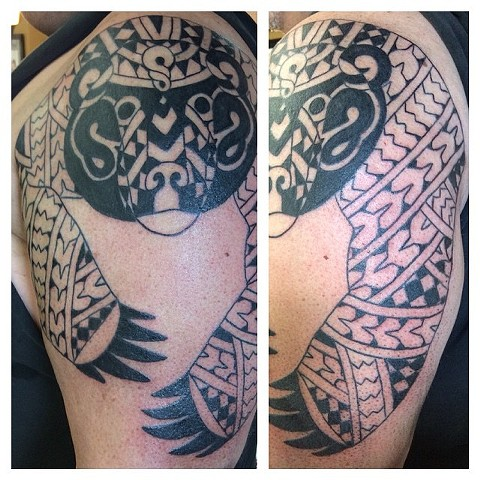 Maori Tribal Bear Tattoo