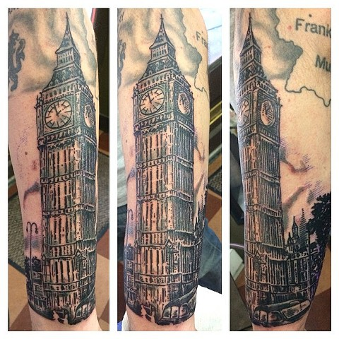 Big Ben London Tattoo