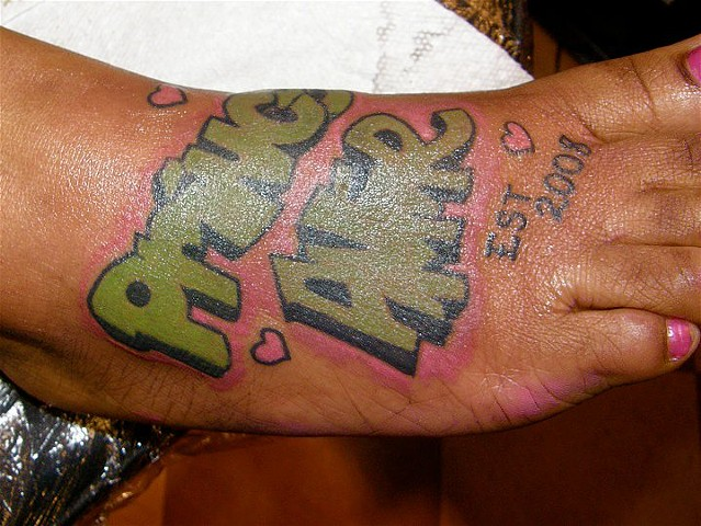 """Prince Amir"" Graffiti Foot Tattoo"