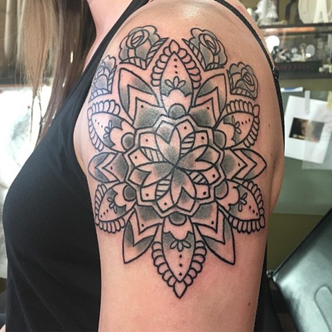 Flower Mandala Tattoo