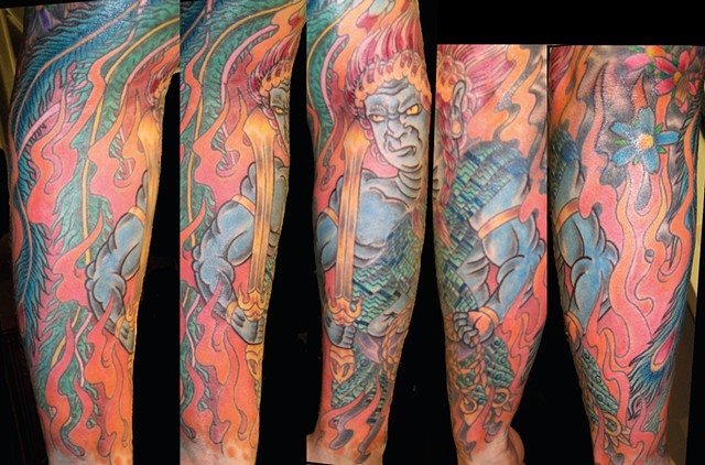 Warrior Sleeve Tattoo