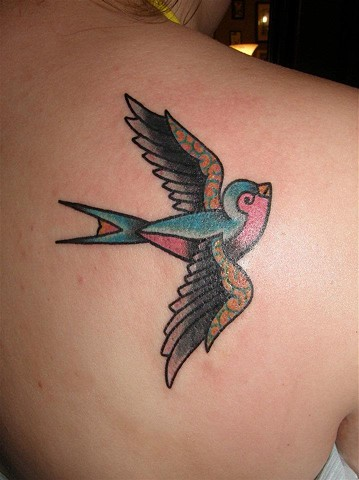 Swallow Bird Tattoo