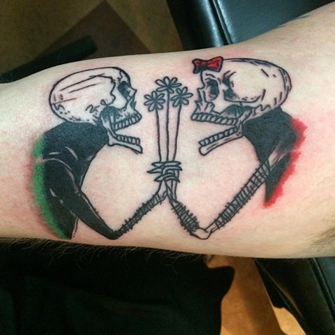 Skeleton Love Tattoo