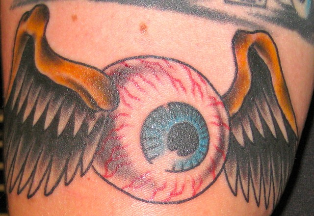 Von Dutch Winged Flying Eyeball Tattoo