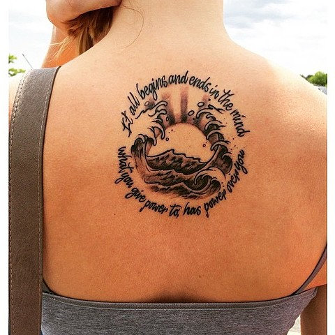 Waves and Sunrise Tattoo
