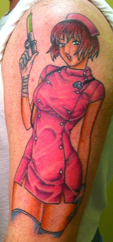 Pink Nurse Tattoo
