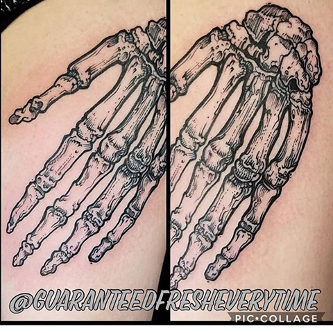 Skeleton Hand Tattoo