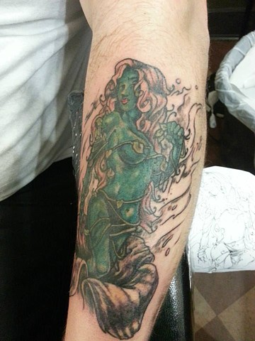 Poison Ivy Tattoo on Forearm