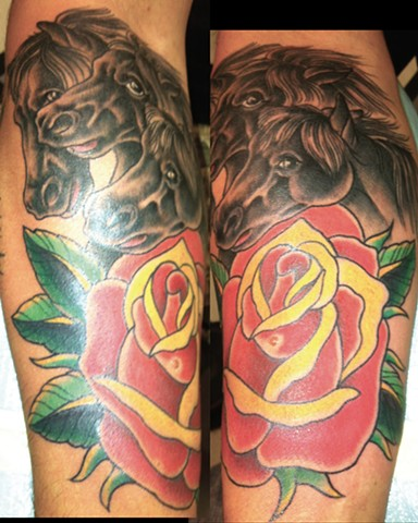 Black Horses and Rose Tattoo