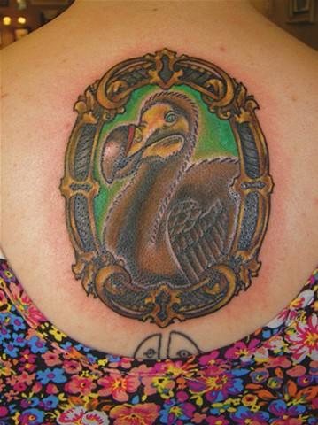 Dodo Bird with Frame Tattoo