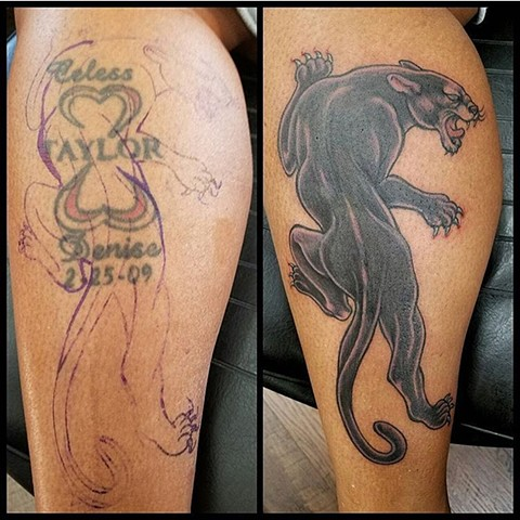 Panther Coverup Tattoo