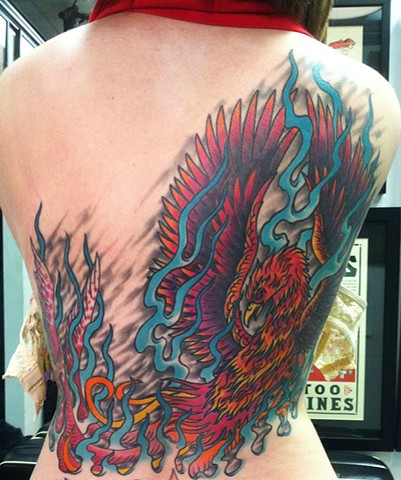 Phoenix Back Tattoo