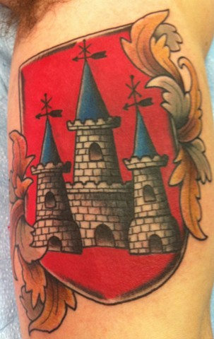 Family Castle Crest Tattoo