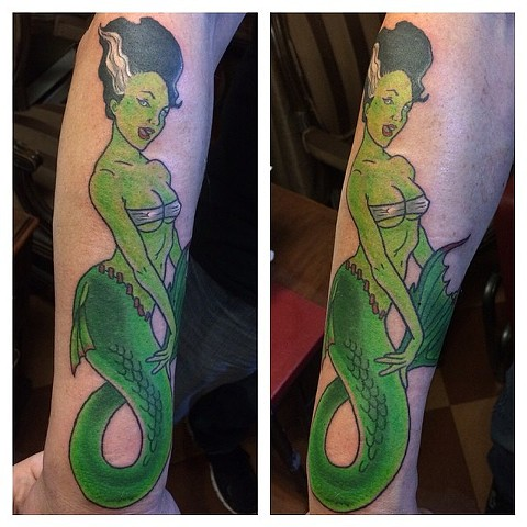 Frankenstein's bride + mermaid = bridemaid tattoo??!