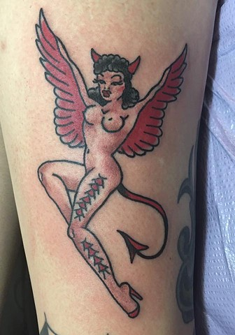 Sailor Jerry Demon Girl Tattoo