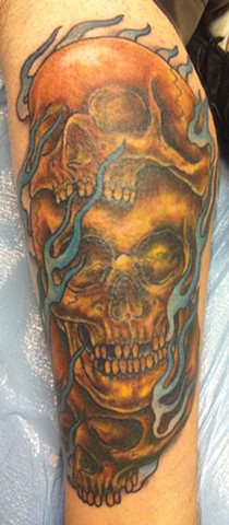 Three Skulls Tattoo