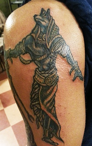 Egyptian Anubis Tattoo