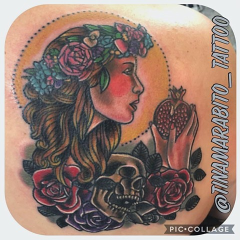 Goddess Persephone Tattoo