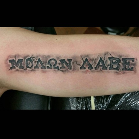 """Molon Labe"" Military Tattoo"