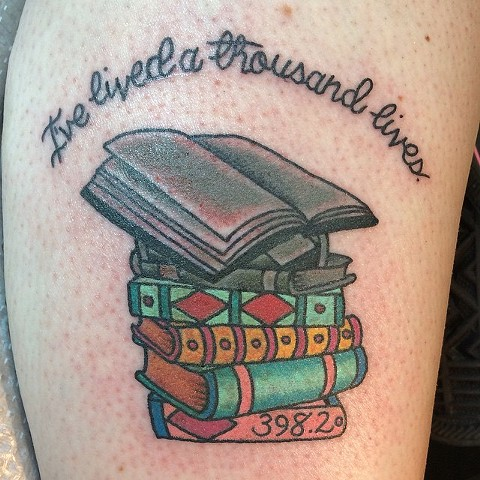 I've Lived a Thousand Lives Book Tattoo