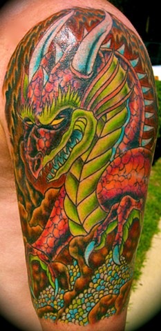 Colorful Dragon Tattoo
