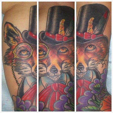 Fancy Fox Tattoo