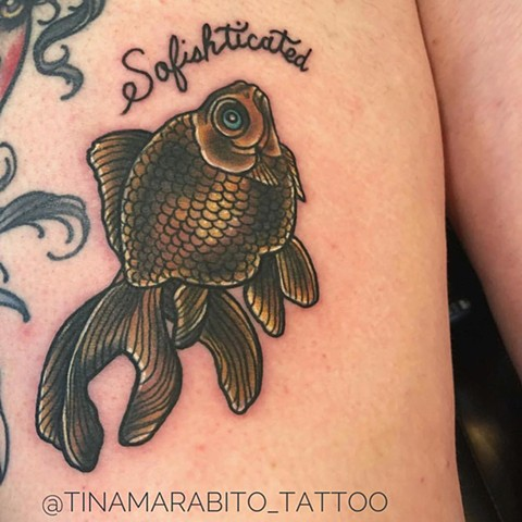 Goldfish Pun Tattoo