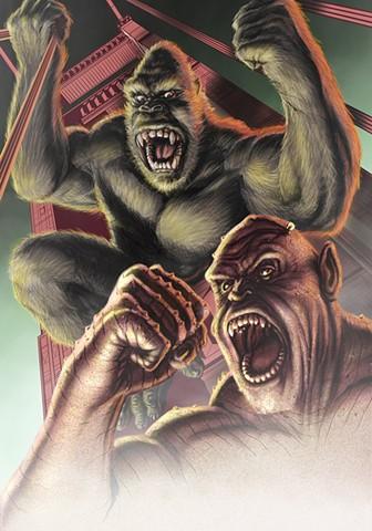 King Kong vs Frankenstein Prometheus Gingko