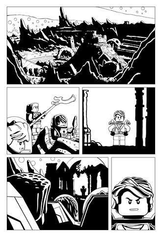 Ninjago Book 11 Page 34 Cole Kai Lloyd Zane