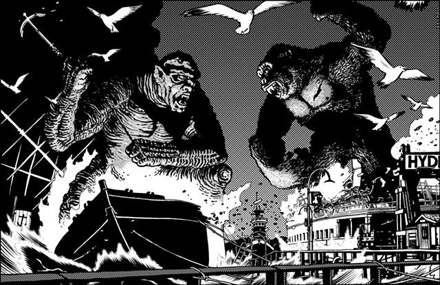 King Kong versus Prometheus Frankenstein for G Fan