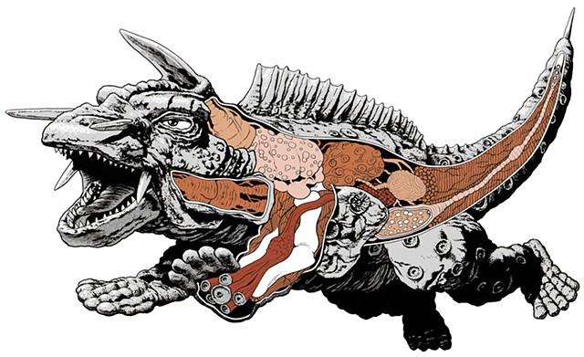 Jiger Gamera monsters kaiju anatomical