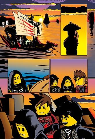 Ninjago page by Jolyon Yates and Jay Jay Jackson