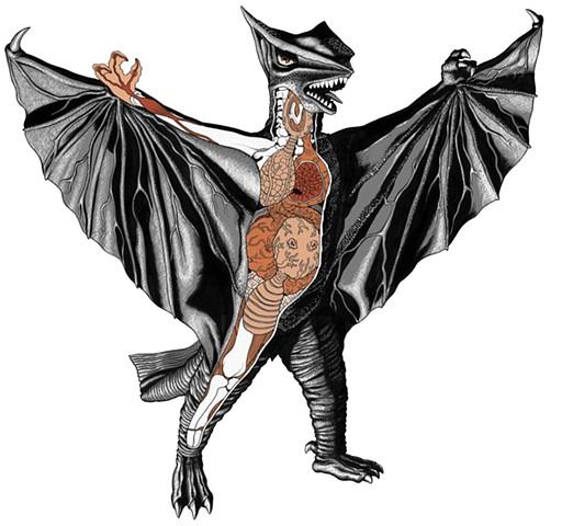 Gyaos Gamera monster kaiju anatomy