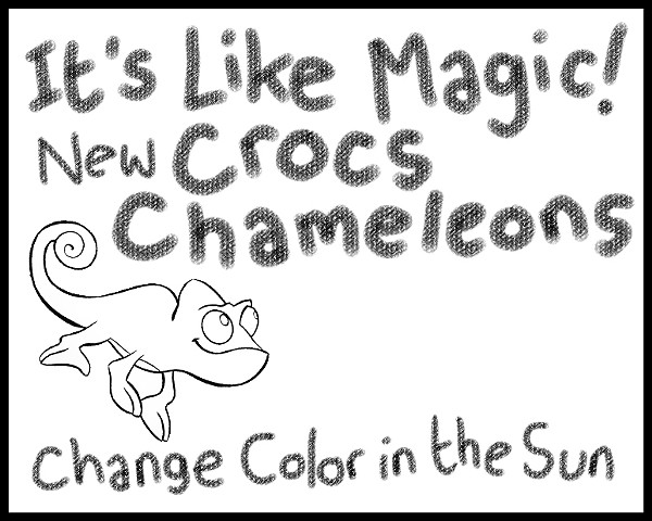 Crocs commercial storyboard