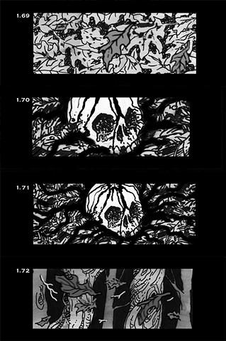 Three Nights of Halloween storyboard