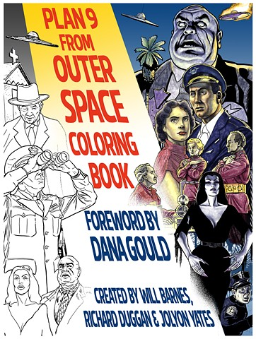 plan 9 from outer space dana gould jolyon yates counter couture ed wood tor johnson bela lugosi coloring book colouring