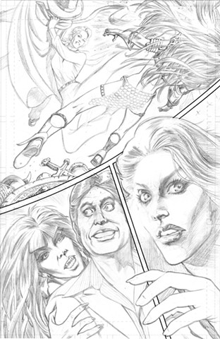 Bionic Woman Shadow Vampirella Red Sonja