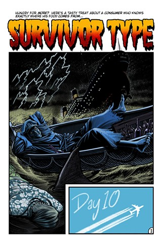 Creepshow splash page Creep Stephen King Survivor Type